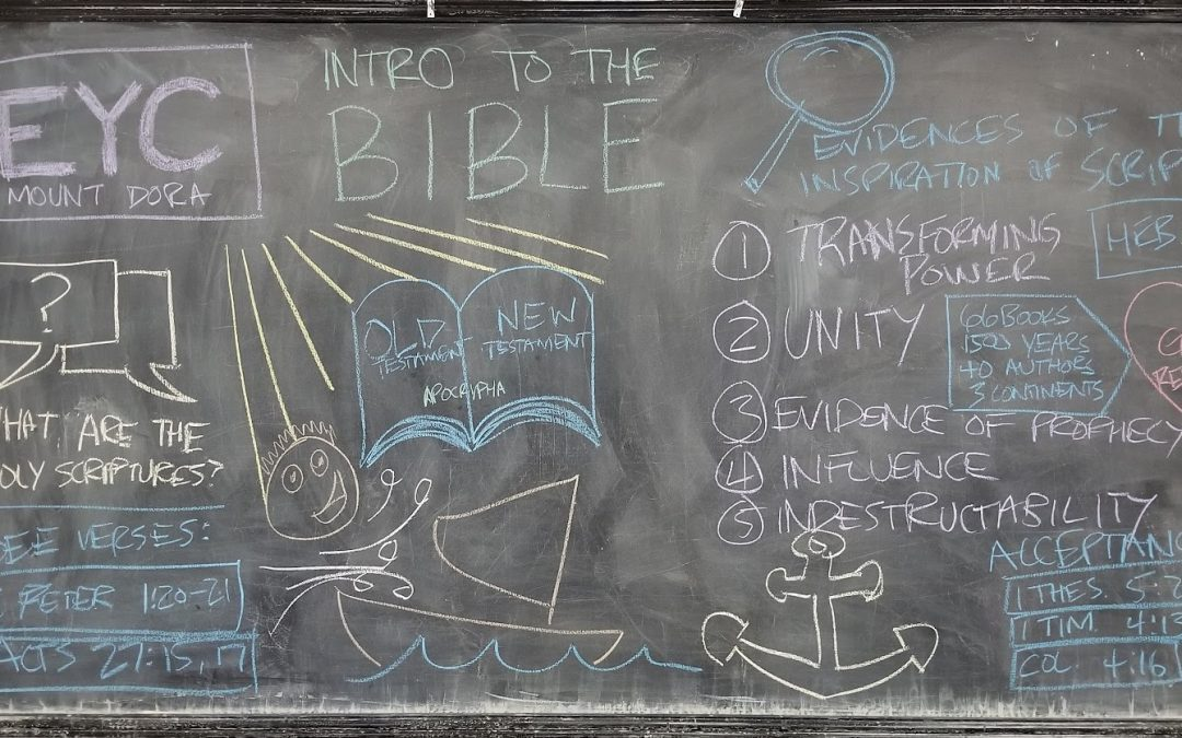 an introduction to the Bible (youth ministry lessons)