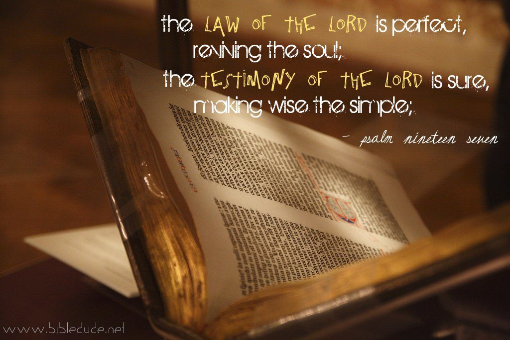 law of the lord, psalm 19, bible